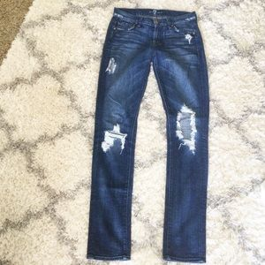 7 for All Mankind Destroyed Distressed Roxanne 25